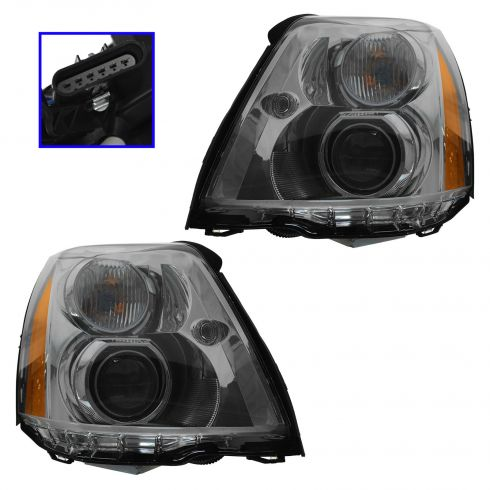 06-11 Cadillac DTS Headlight PAIR