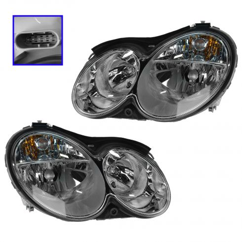 05-06 MB C55AMG Sedan; 03-06 CLK Series Halogen Headlight PAIR
