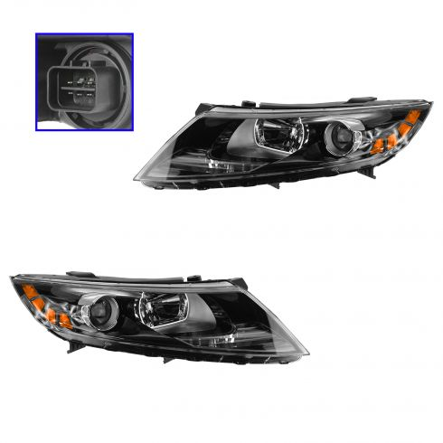 11 (from 12/06/10)-14 Kia Optima Halogen Headlight PAIR