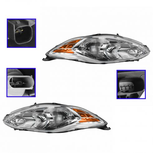 11-13 Ford Fiesta (w/o Black Sport Appearance Pkg) Headlight PAIR