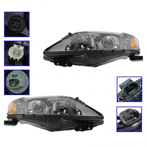 2010-12 Lexus RX350 Halogen Headlight Pair
