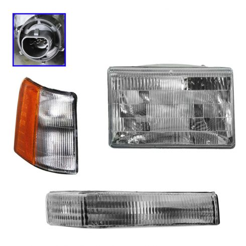 97-98 Jeep Grand Cherokee Light Set (Headlight, Side Marker, & Park) RH