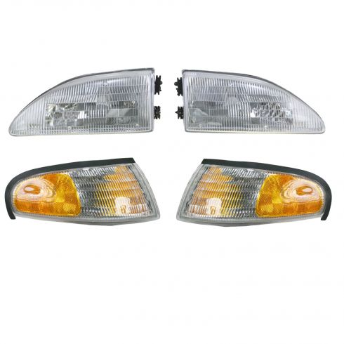 Composite Headlight and Parking Light Set