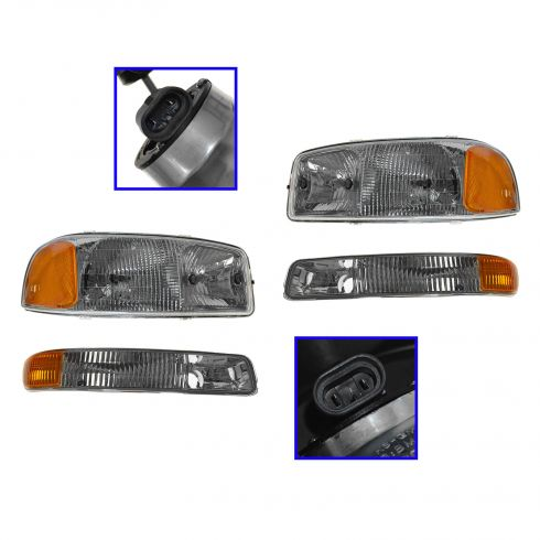 99-05 GMC Sierra Headlight & Marker Light Kit