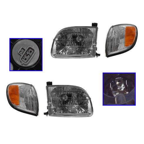 00-03 Toyota Tundra Headlight & Marker Light Kit
