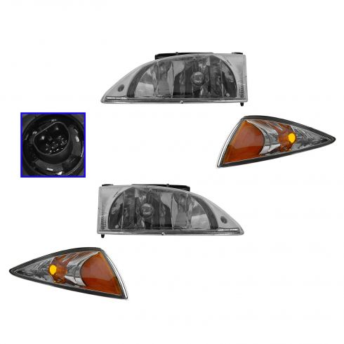 00-02 Chevy Cavalier Headlight & Marker Light Kit