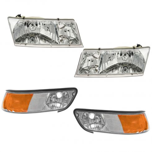 99-02 Mercury Grand Marquis Headlight & Marker Light Kit
