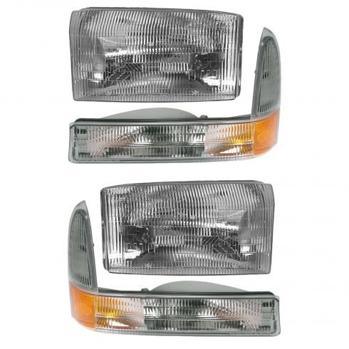 01-05 Ford SD Pickup and Excursion Headlight & Sidemarker Kit