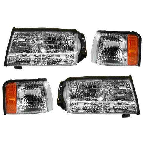 97-99 Cadillac Deville Headlight & Marker Light Kit