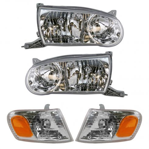 01-02 Toyota Corolla Headlight & Corner Light Set