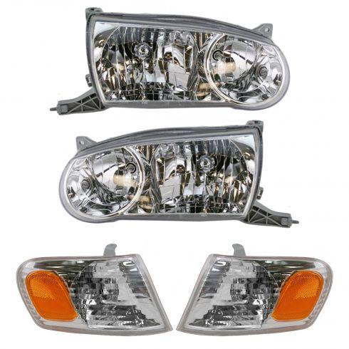 01-02 Toyota Corolla Headlight & Corner Light Set