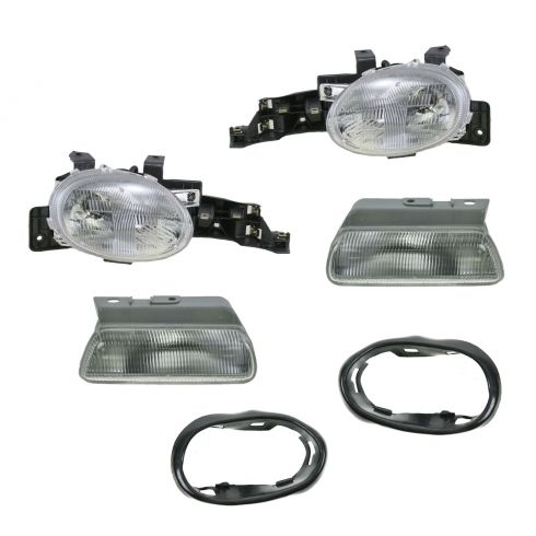 Headlight with Gasket & Parking Light Set
