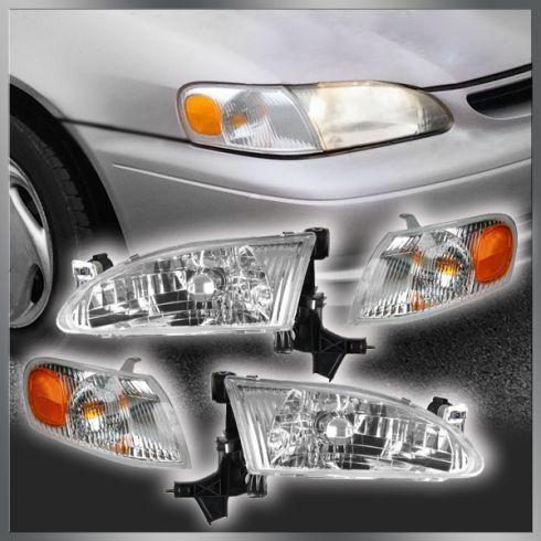 98-00 Toyota Corolla Headlight & Corner Light Set