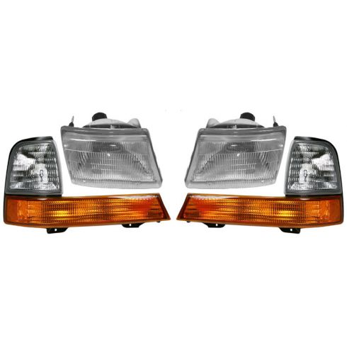 1998-00 Ranger Headlight & Corner Lamp Set of 4