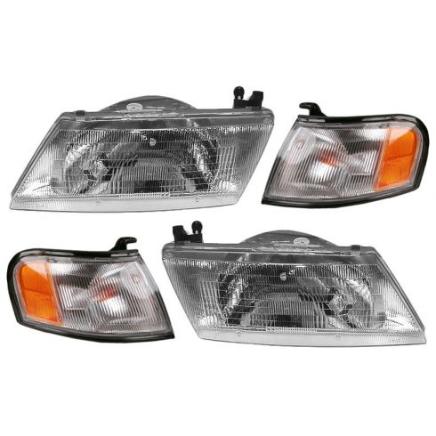 1995-99 Sentra Headlight & Corner Light Set of 4
