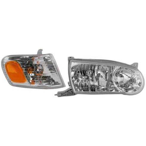 2001-02 Corolla Headlight & Park Lamp Turn Signal Set RH