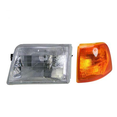 93-97 Ford Ranger Headlight & Corner Light Kit LH