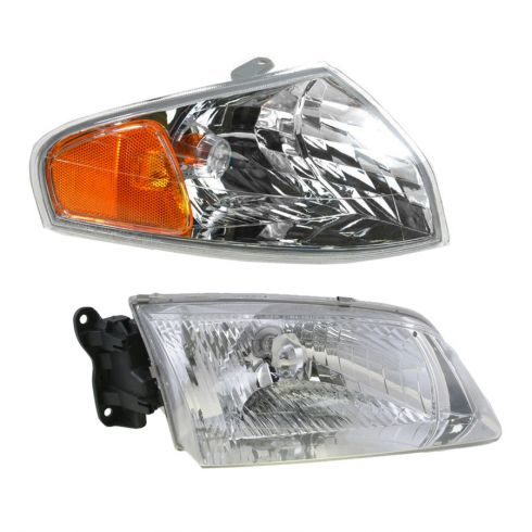 00-02 Mazda 626 Headlight & Corner Light Kit RH