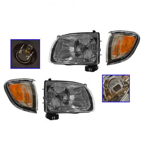 01-04 Toyota Tacoma Headlight & Corner Light Kit (Set of 4)