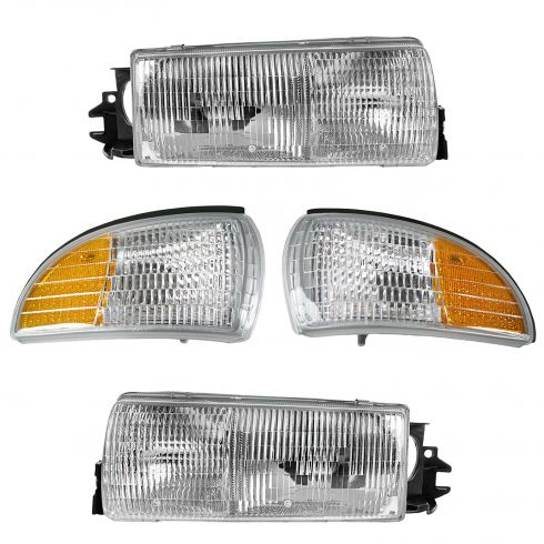 91-96 Roadmaster, Caprice; 91-94 Impala; 91-92 Custom Cruiser Headlight & Corner Light Kit(Set of 4)
