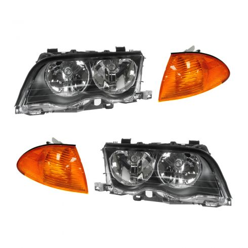 99-01 BMW 3 Series Multifit Headlight & Corner Light Kit (Set of 4)