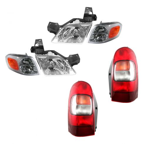 97-05 GM Venture Silloutte Montana Trans Headight, Park Light, Taillight Kit
