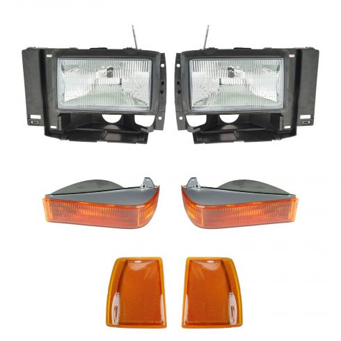 89-90 Ford Bronco II; 91-94 Explorer; 89-92 Ranger Headlight, Park Light, & Reflector Kit (Set of 6)