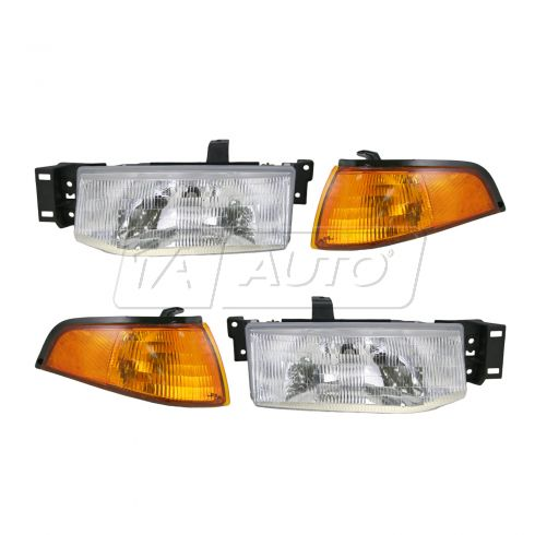 93-96 Ford Escort Headlight & Corner Light Kit (Set of 4)