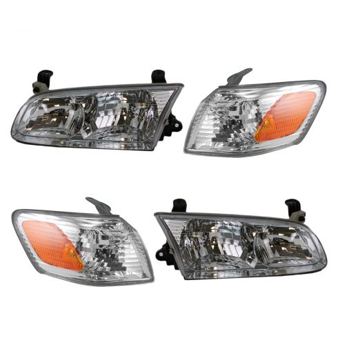 00-01 Toyota Camry Headlight & Corner Light Kit (Set of 4)