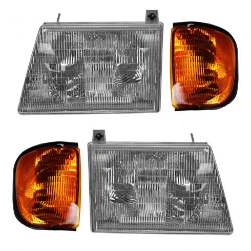 01-03 Ford Econoline Van Headlight & Corner Light Kit (Set of 4)