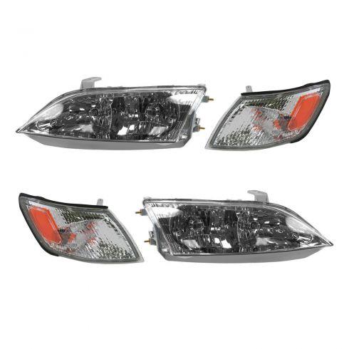 97-99 Lexus ES300 Headlight & Corner Light Kit (Set of 4)
