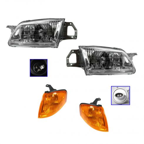 99-00 Protege Headlight & Corner Light Kit