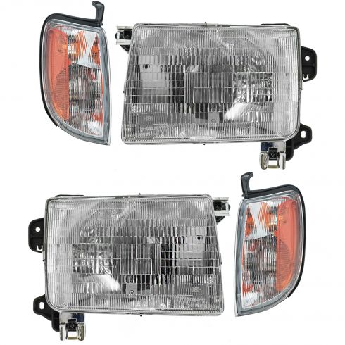 98-00 Frontier Headlight & Fender Mounted Park Light SET of 4