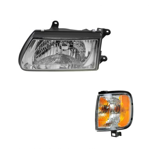 00-02 Isuzu Rodeo Headlight & Park Corner light Kit LH
