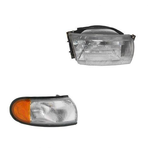 93-95 Quest Headlight & Fender Mounted Park Light Kit RH