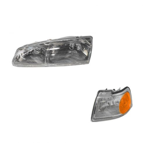 96-97 Thunderbird Headlight & Fender Mounted Park Light Kit LH