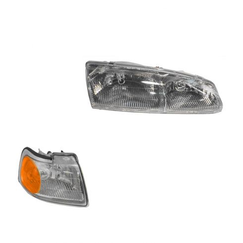 96-97 Thunderbird Headlight & Fender Mounted Park Light Kit RH