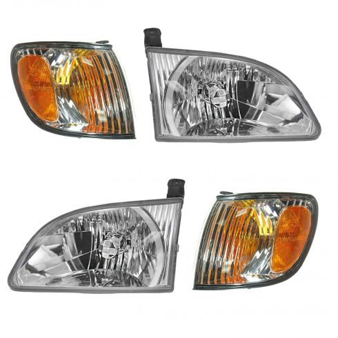 01-03 Toyota Sienna Headlight & Corner Parking Light SET of 4