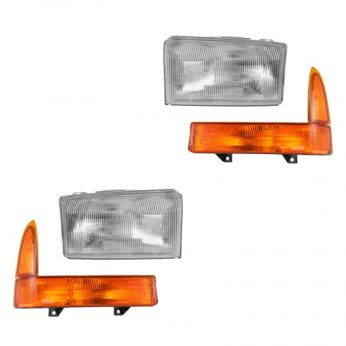 99-00 F250, F350; 00-01 Excursion Headlight & Corner Light Kit