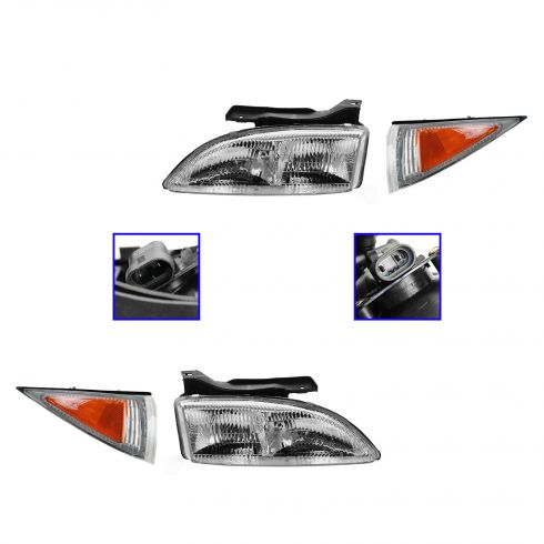 1995-99 Cavalier Headlight & Corner Light Kit