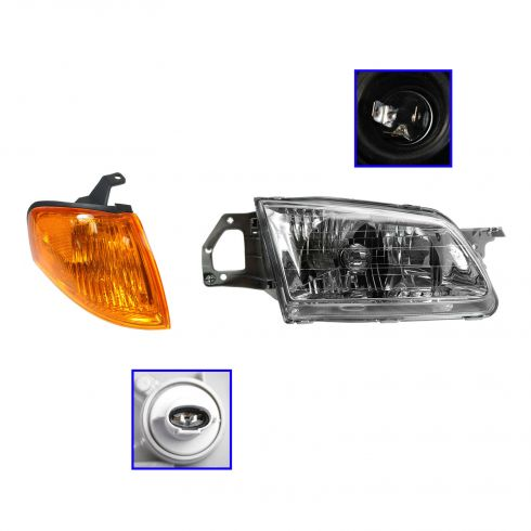 99-00 Mazda Protege Headlight & Corner Parking Light Kit RH