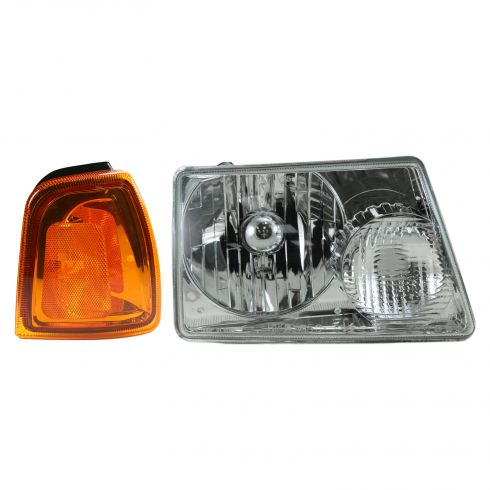 01-05 Ford Ranger Headlight & Marker Light Kit Passenger Side
