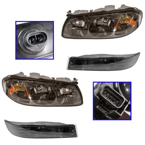 00-04 Impala (Before 2/06/04) Headlight & Fog Light Kit (Set of 4)