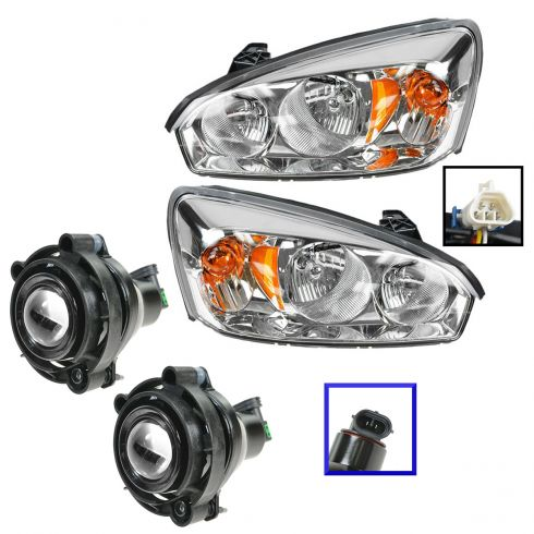 06-08 Malibu Classic Headlight & Fog Light Kit (Set of 4)