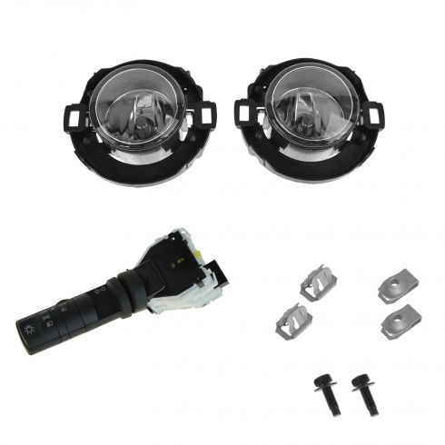10-14 Xterra, Frontier (exc Steel Bmpr) Combo Switch w/Fog Lights Upgrade Installation Kit (Nissan)