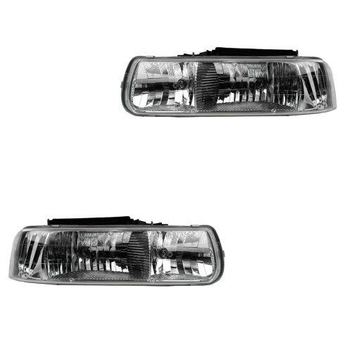99-02 Silverado; 00-06 Suburban; 00 Tahoe (exc 5.7L); 01-06 Tahoe Diamond Style Perf Headlight PAIR