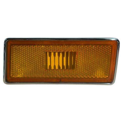 73-79 Chevy Corvette Fender Mounted Front Side Marker Light Amber Lense & Housing LF (GM)