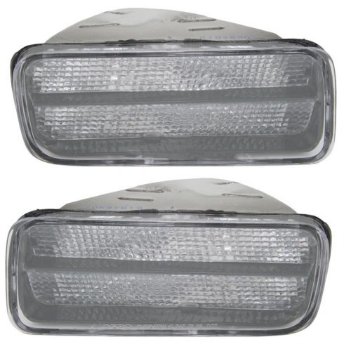 1985-92 Chevy Camaro Z28 Clear Parking Lamp Pair