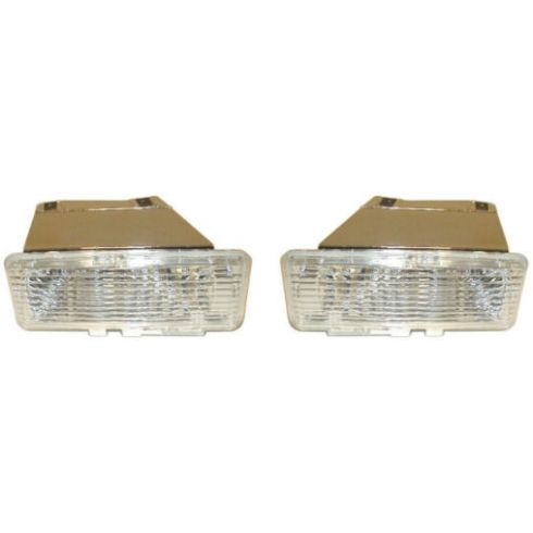 1994-97 S10 S15 Pickup Blazer Jimmy Bumper Mounted Parking Lamp Pair