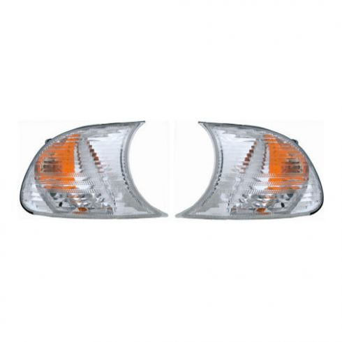 2000 BMW 323CI Cpe Front Side Marker Lamp Clear Pair